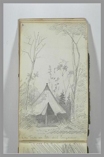 YVON Adolphe : Tente entourée d'arbres