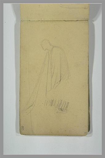 YVON Adolphe : Une figure drapée, de profil vers la gauche