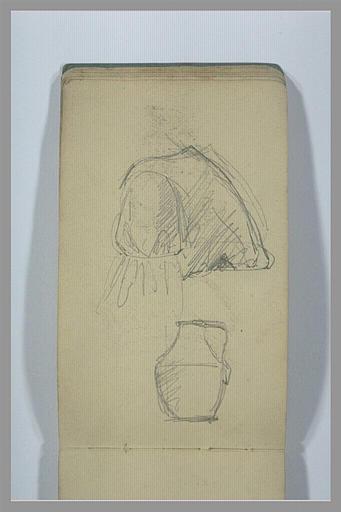 YVON Adolphe : Torse d'homme portant une cuirasse, un récipient avec une anse