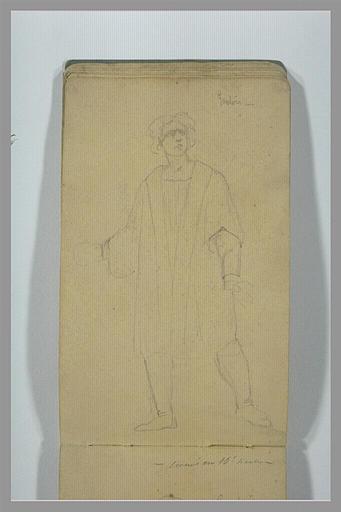 YVON Adolphe : Homme portant une longue tunique