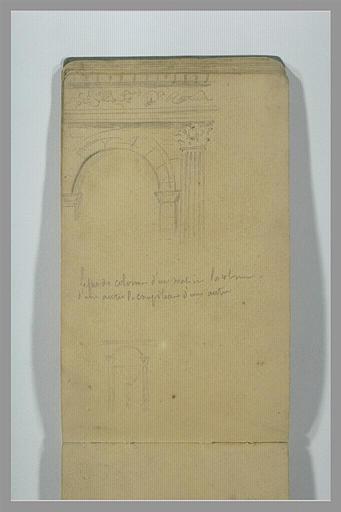 YVON Adolphe : Deux vues partielles d'un arc antique