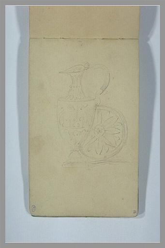 YVON Adolphe : Vase et plat antiques