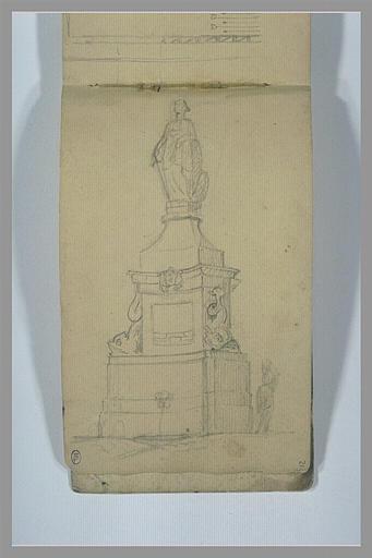 Monument commémoratif surmonté d'une statue