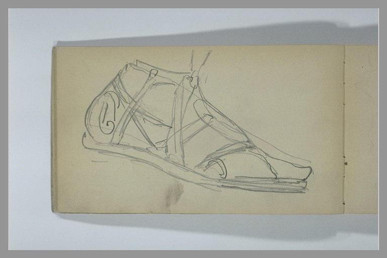 Un pied chaussé d'une sandale antique_0
