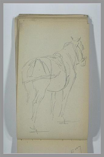 YVON Adolphe : Un cheval, vu de dos