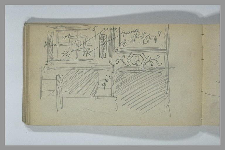 YVON Adolphe : Un mur décoré