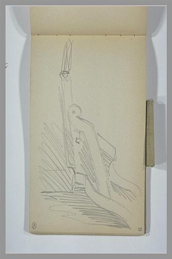 YVON Adolphe : Partie de mobilier sculpté