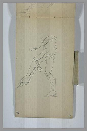 YVON Adolphe : Jambes d'homme chaussé de guêtres