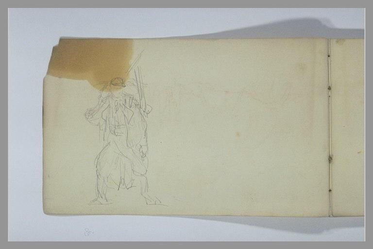 YVON Adolphe : Soldat portant un sac à dos, et un fusil