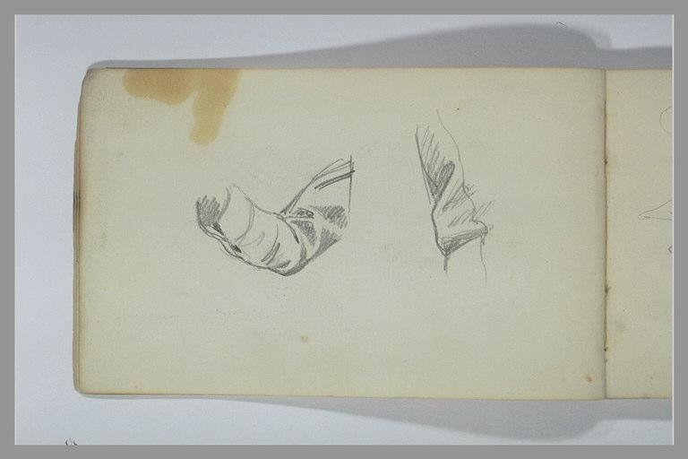 YVON Adolphe : Etude d'un bras plié : manche