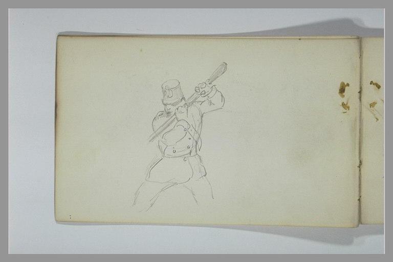 Soldat tenant sa baïonnette des deux mains