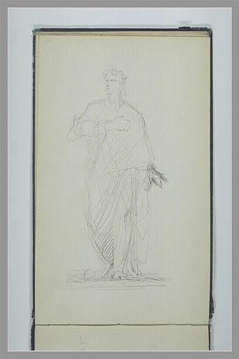 Homme en pied, drapé à l'antique, la main sur la poitrine_0