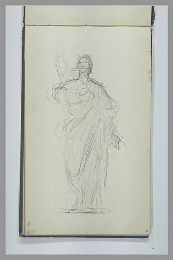 YVON Adolphe : Figure en pied, drapé à l'antique