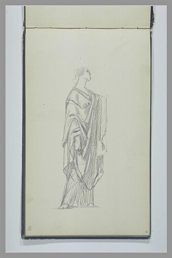 YVON Adolphe : Une femme, debout, de profil, drapée à l'antique