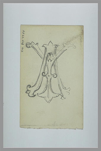 YVON Adolphe : Monogramme aux lettres A et Y entrelacées