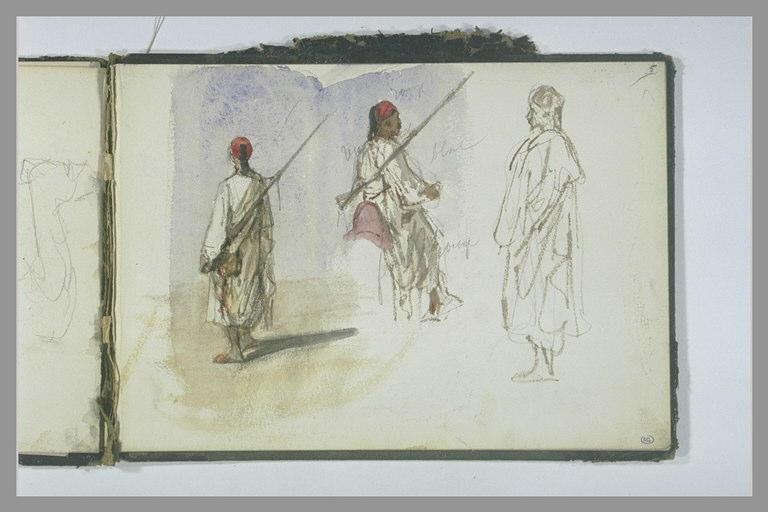 YVON Adolphe : Trois croquis d'Orientaux