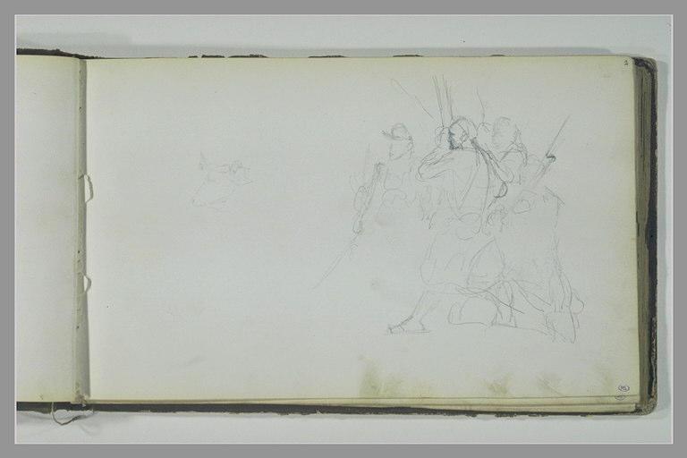 YVON Adolphe : Tête de boeuf, groupe de soldats