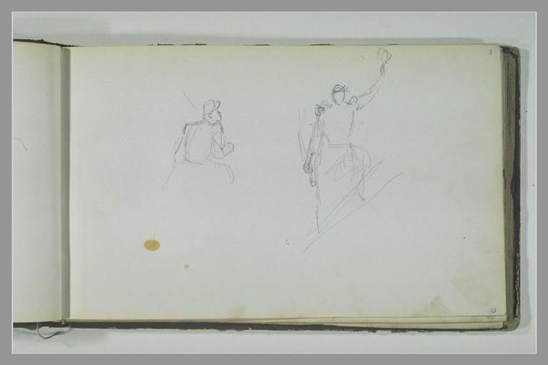 YVON Adolphe : Cavalier, à mi-corps, de dos, soldat, en pied, de face