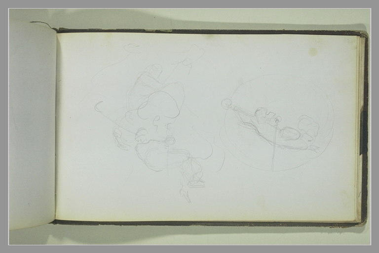 YVON Adolphe : Etudes de figures volantes