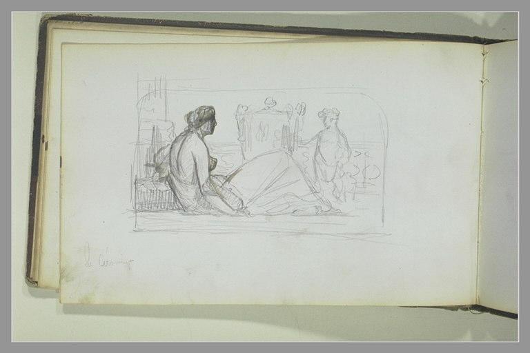 Composition avec une femme et un enfant