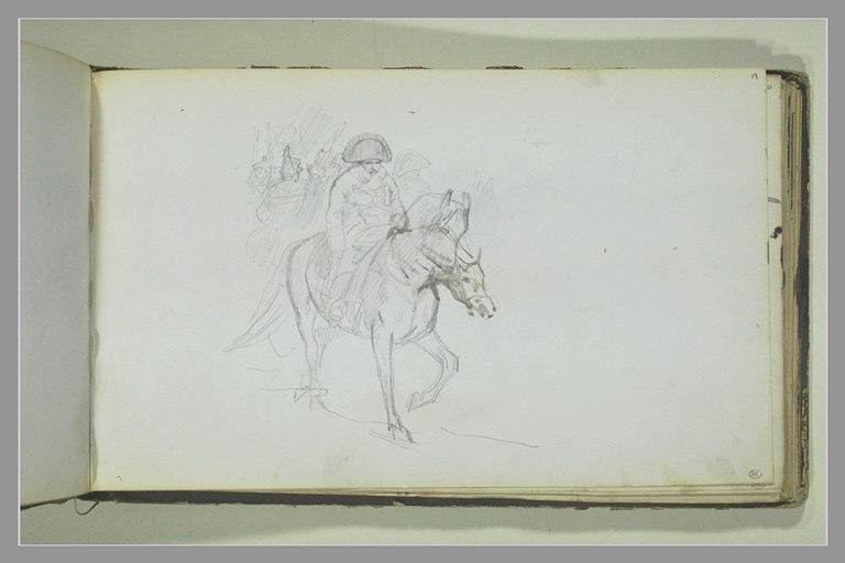 YVON Adolphe : Napoléon Ier à cheval