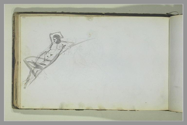 YVON Adolphe : Etude d'une femme nue
