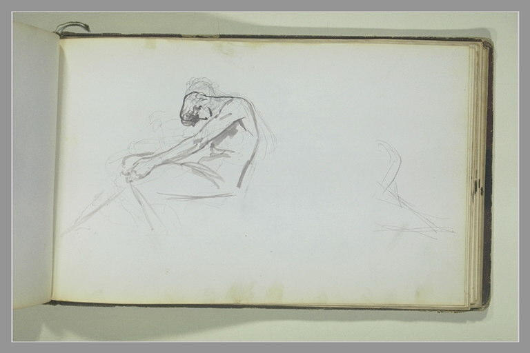 YVON Adolphe : Etude d'une figure assise