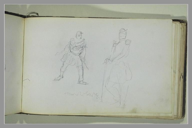 YVON Adolphe : Deux études de soldats