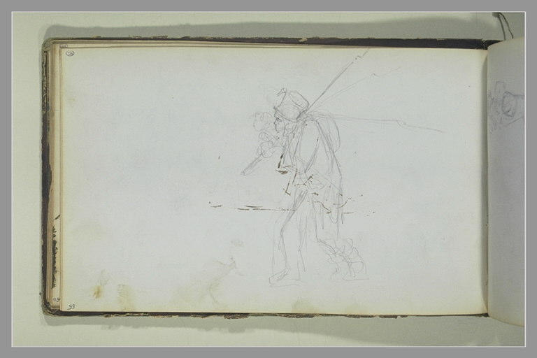 Un soldat avançant vers la gauche