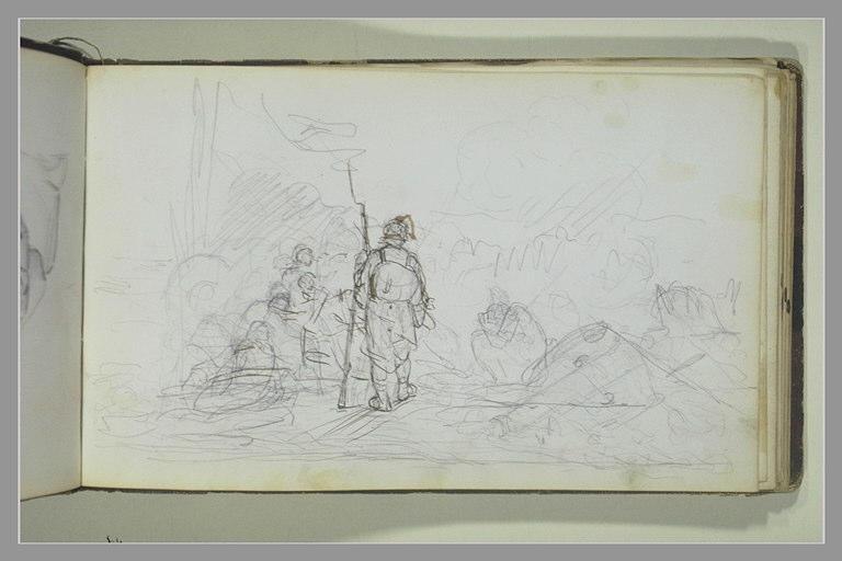 YVON Adolphe : Soldats sur un champ de bataille