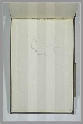 YVON Adolphe : Caricature d'une tête de femme