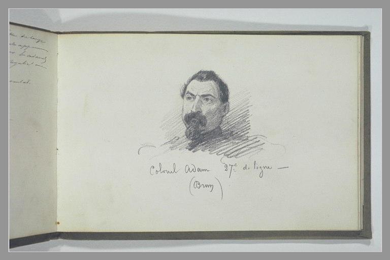 YVON Adolphe : Portrait du colonel Adam