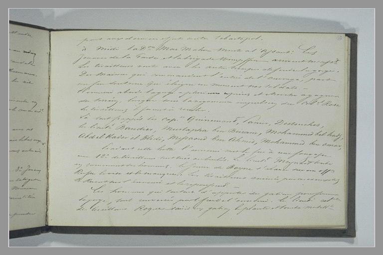YVON Adolphe : Note manuscrite