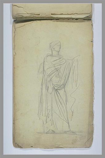 Femme debout, drapée à l'antique_0