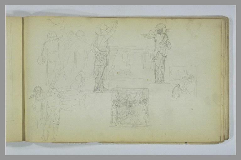 YVON Adolphe : Etudes de soldats et de compositions à sujet militaire