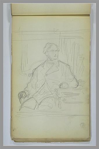 Portrait d'un homme assis
