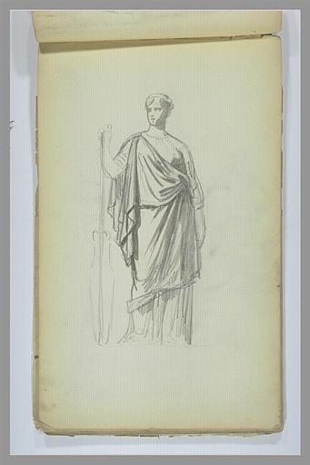 YVON Adolphe : Etude de femme, debout, drapée à l'antique