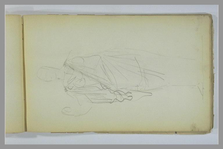 YVON Adolphe : Etude de figure drapée à l'antique