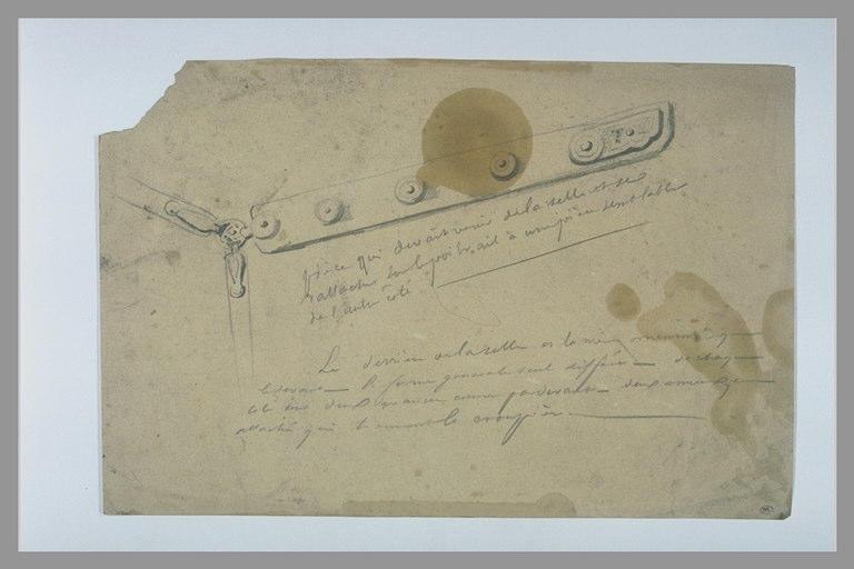 YVON Adolphe : Pièce de harnachement et annotations manuscrites