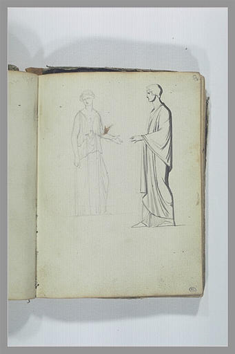 Deux figures d'après l'antique