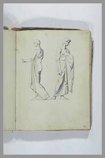 Deux figures d'après l'antique_0