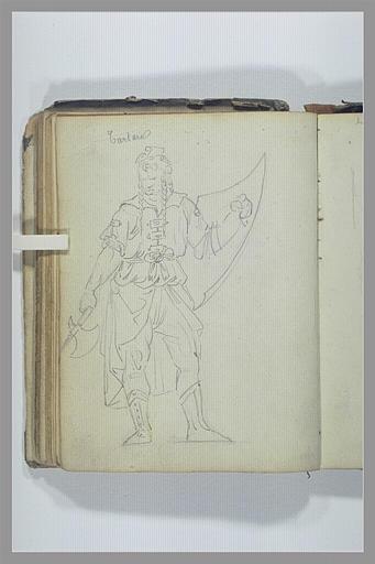 Un tatar portant un bouclier