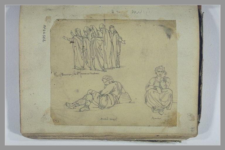 YVON Adolphe : Les Saintes Femmes, d'après Dominiquin, deux figures, d'après Michel-Ange