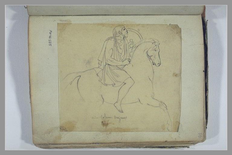 YVON Adolphe : Un cavalier, d'après la Colonne Trajane