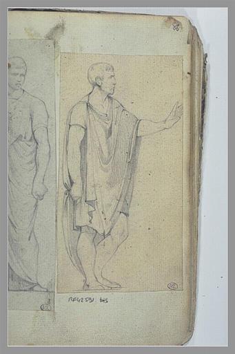 YVON Adolphe : Homme drapé, d'après l'antique