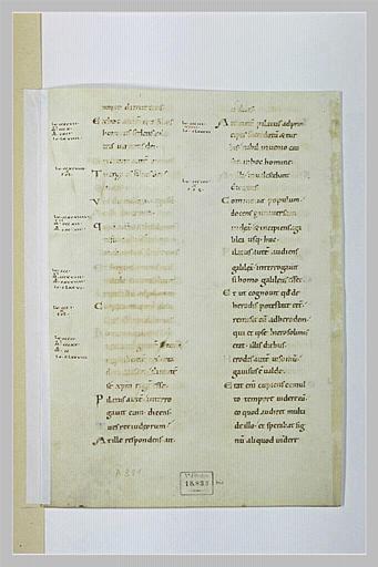 Texte manuscrit : Evangile selon saint Luc