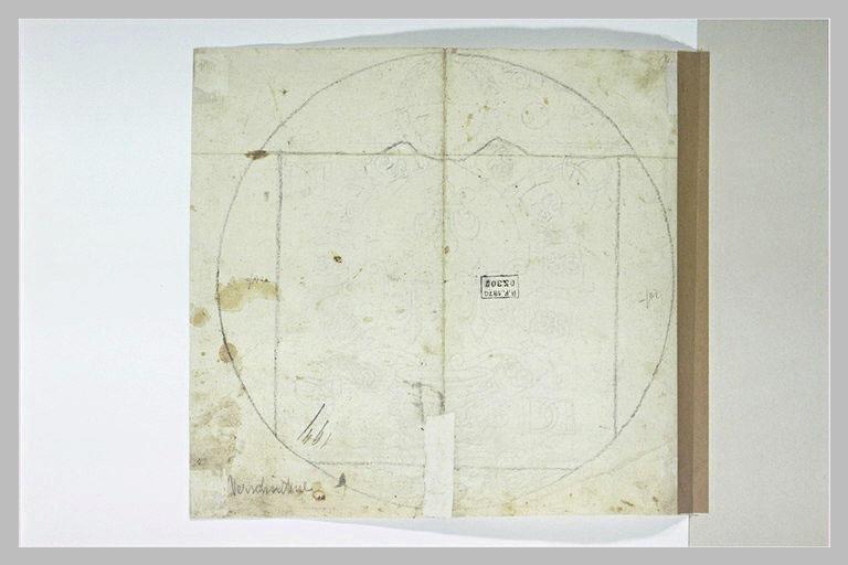 Figure géométrique, étude pour des armoiries (?)
