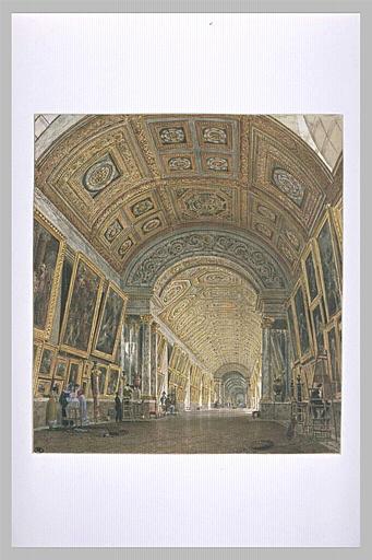 Etude pour la grande galerie du Louvre