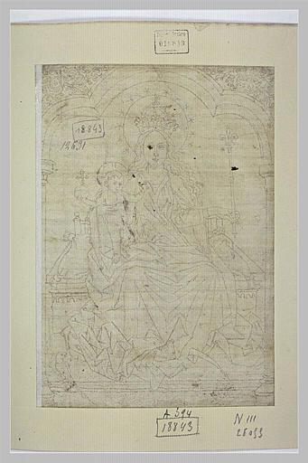 La Vierge couronnée trônant