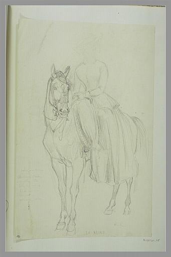 PAPETY Dominique : La Reine à cheval